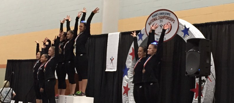 Tess medals at 2015 JO Nationals