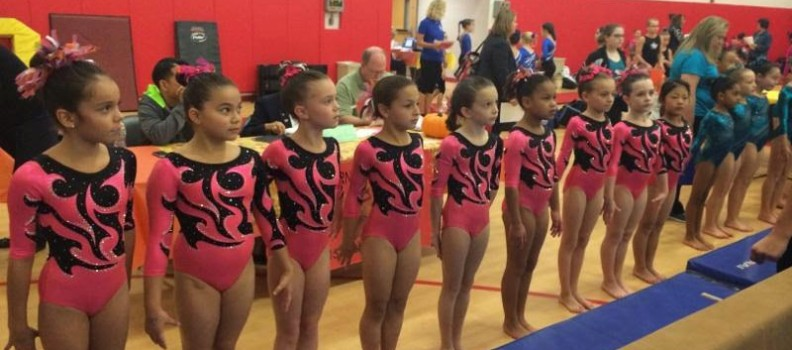 ENA Gymnastics opens their competitive season at the Acorn Cup